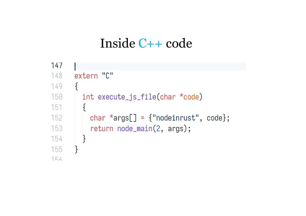 Inside C++ code