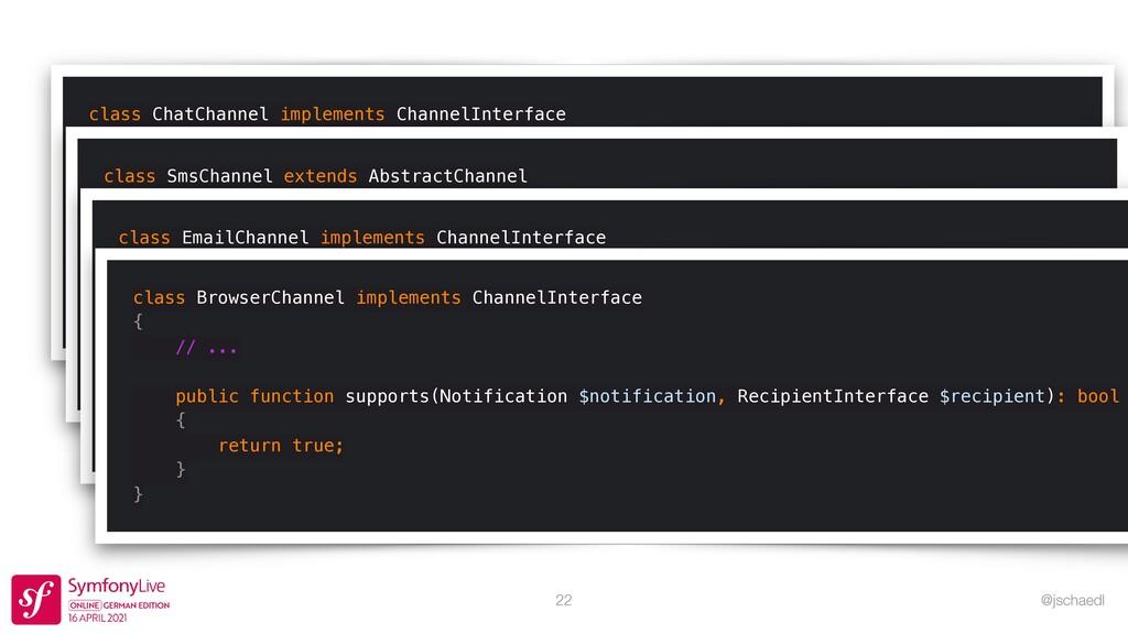 @jschaedl 22 class ChatChannel implements Chann...