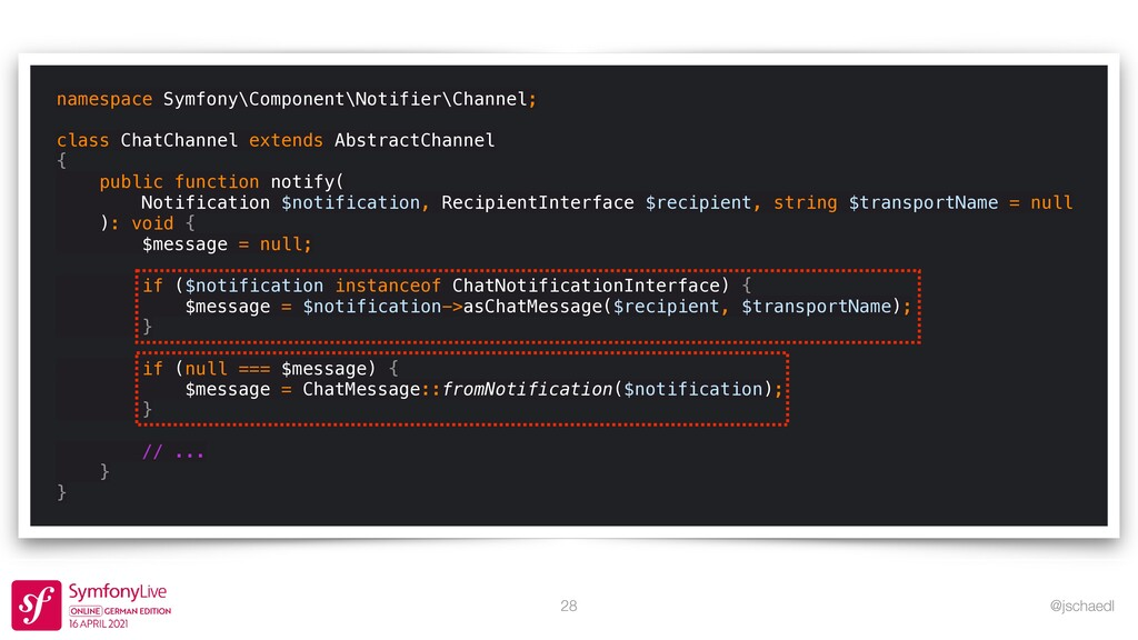 @jschaedl 28 namespace Symfony\Component\Notifi...