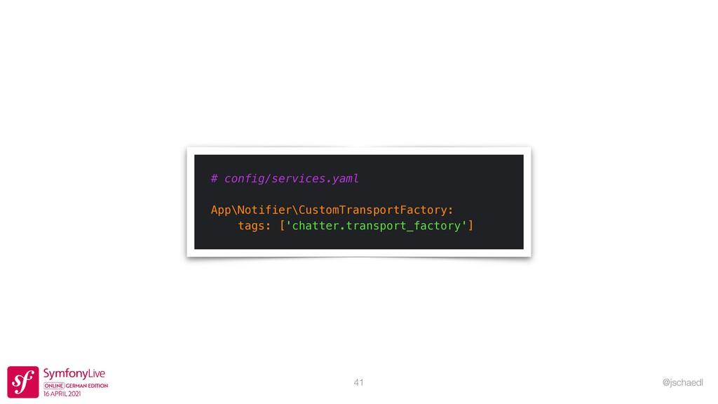 @jschaedl 41 # config/services.yaml   App\Notif...