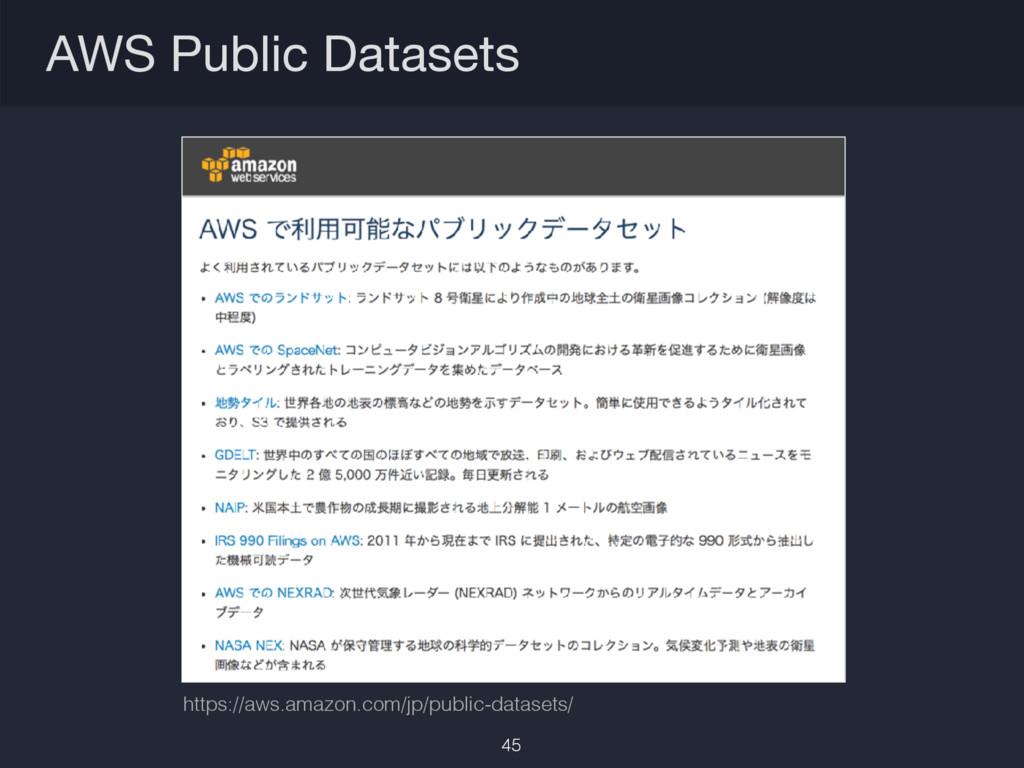 AWS Public Datasets https://aws.amazon.com/jp/p...