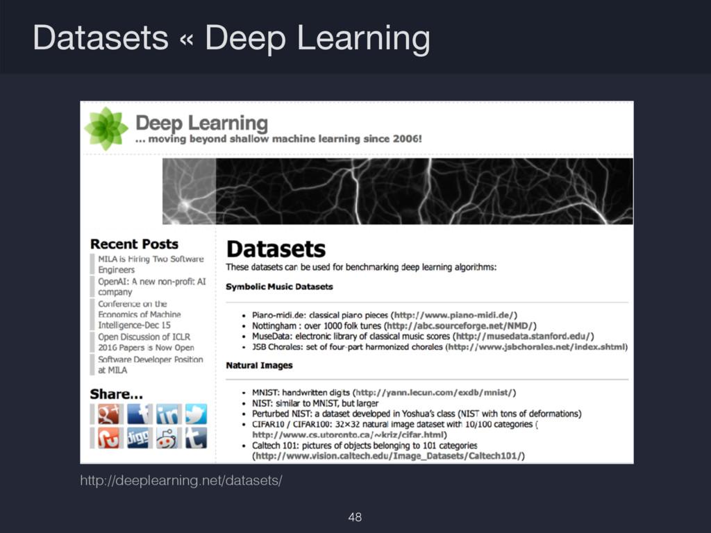 Datasets « Deep Learning http://deeplearning.ne...