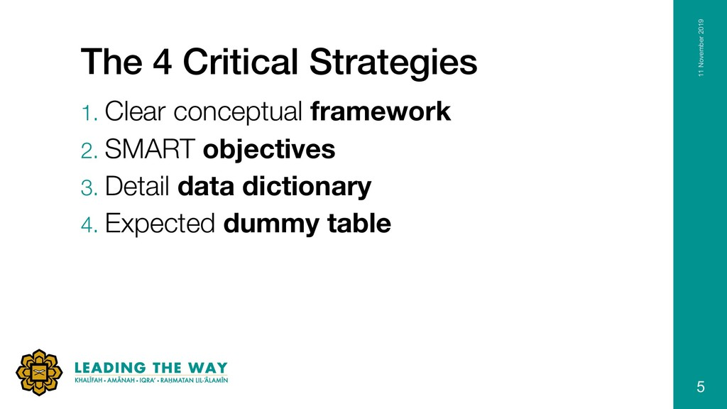 The 4 Critical Strategies 1. Clear conceptual f...