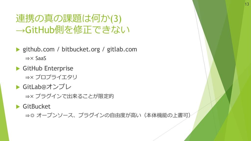 連携の真の課題は何か(3) →GitHub側を修正できない u github.com / bi...