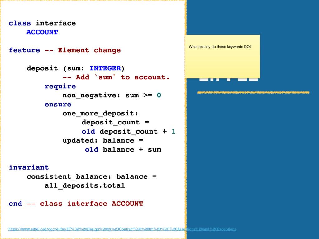 EIFFEL class interface ACCOUNT feature -- Eleme...