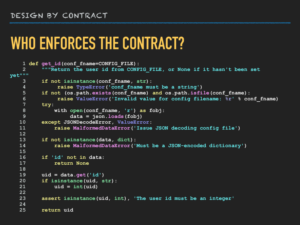 DESIGN BY CONTRACT WHO ENFORCES THE CONTRACT? 1...