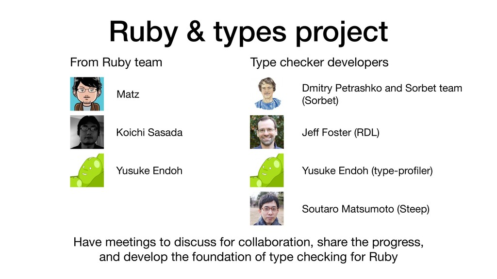 Ruby & types project From Ruby team Type checke...