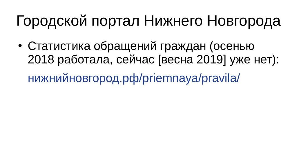 Городской портал Нижнего Новгорода ● Статистика...