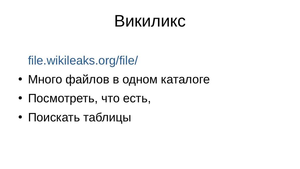 Викиликс file.wikileaks.org/file/ ● Много файло...