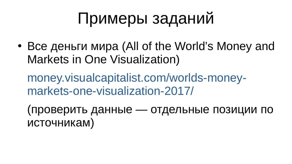 Примеры заданий ● Все деньги мира (All of the W...