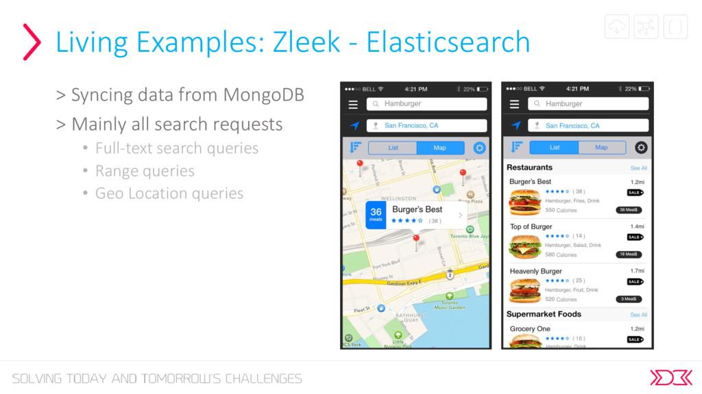 Living Examples: Zleek - Elasticsearch > Syncin...