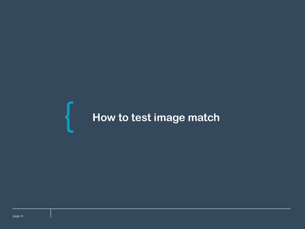 QBHF How to test image match \
