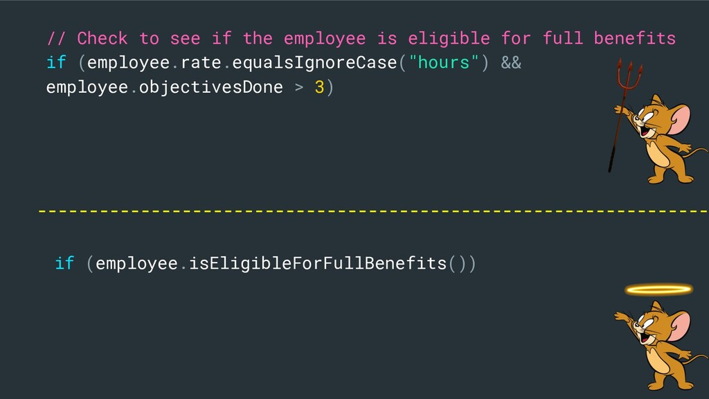 // Check to see if the employee is eligible for...
