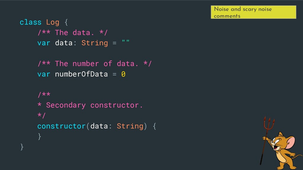 class Log { /** The data. */ var data: String =...