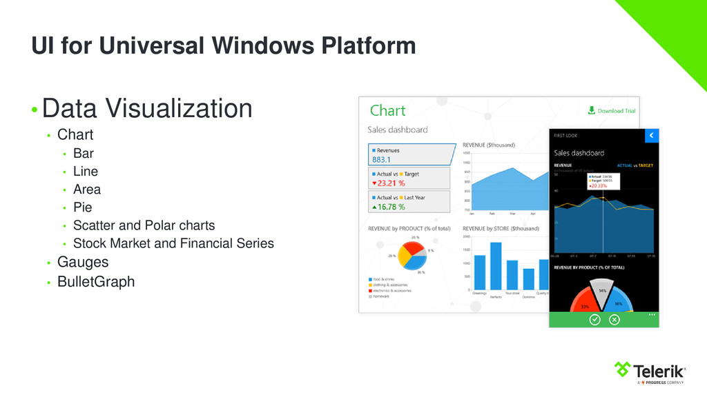 UI for Universal Windows Platform •Data Visuali...