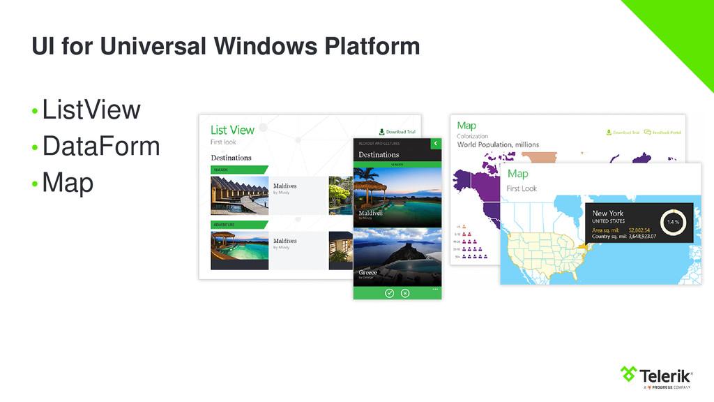 UI for Universal Windows Platform •ListView •Da...