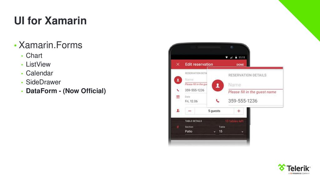 UI for Xamarin • Xamarin.Forms • Chart • ListVi...