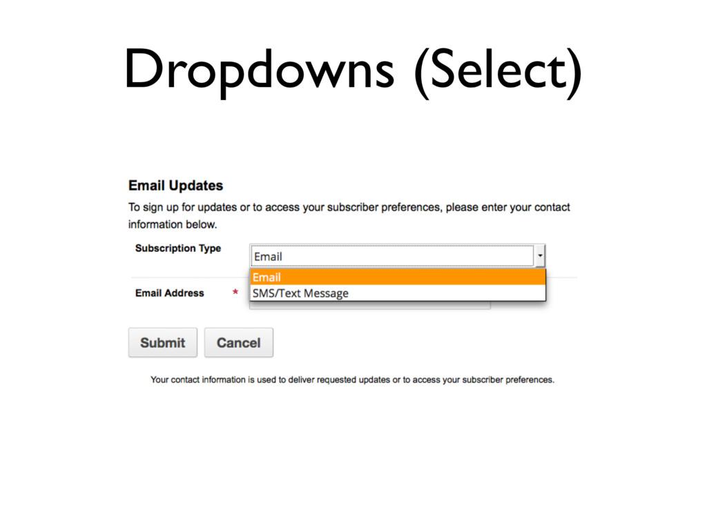 Dropdowns (Select)