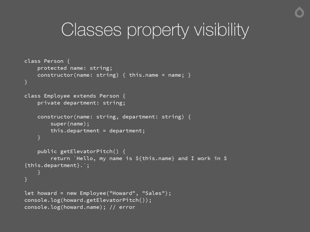 Classes property visibility class Person { prot...