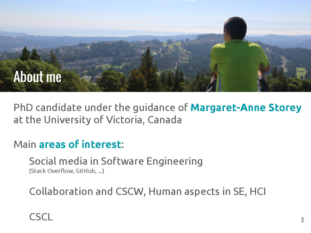 PhD candidate under the guidance of Margaret-An...