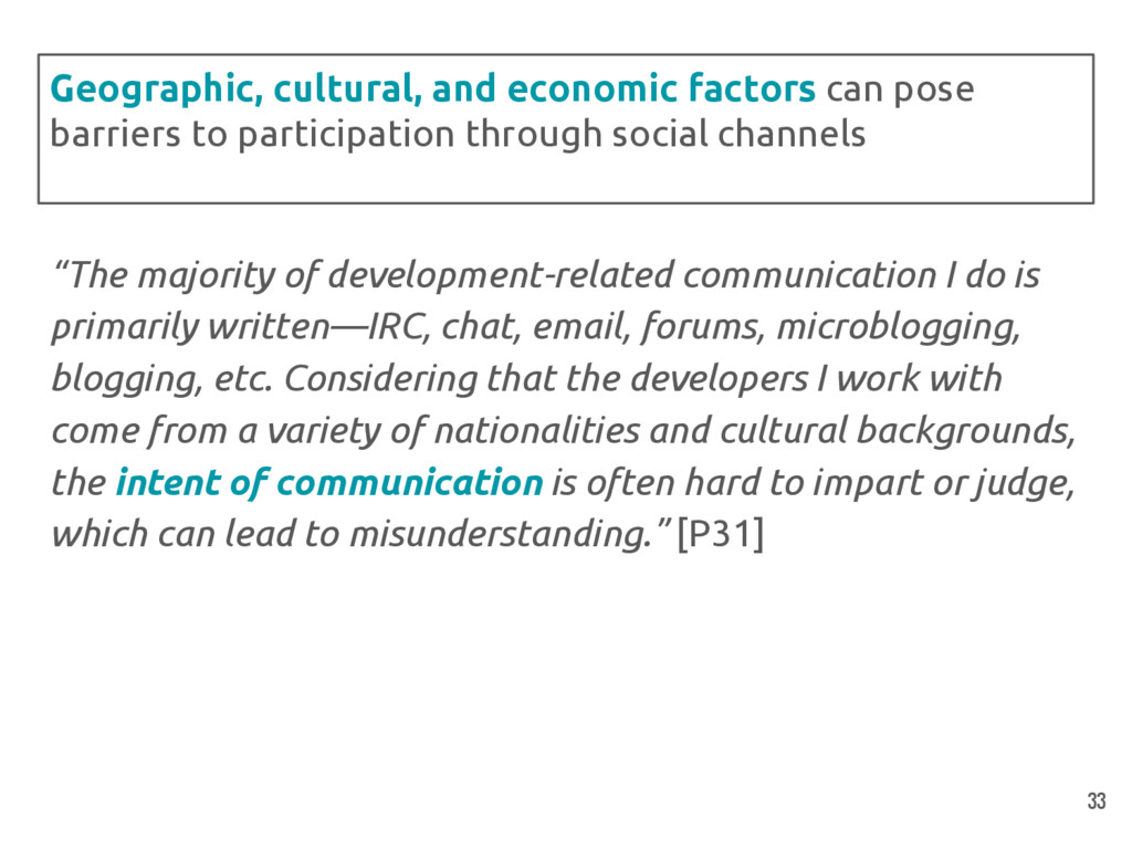 """The majority of development-related communicat..."