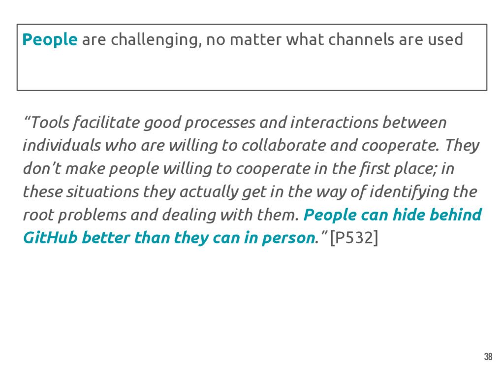 """Tools facilitate good processes and interactio..."