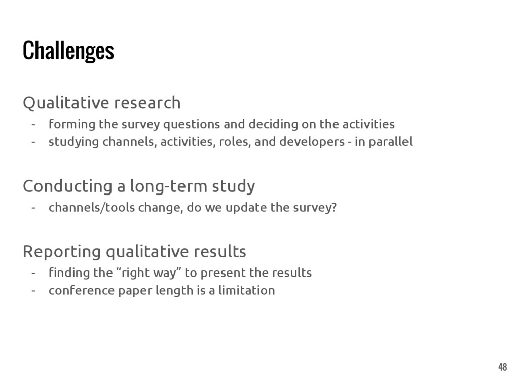 Challenges Qualitative research - forming the s...