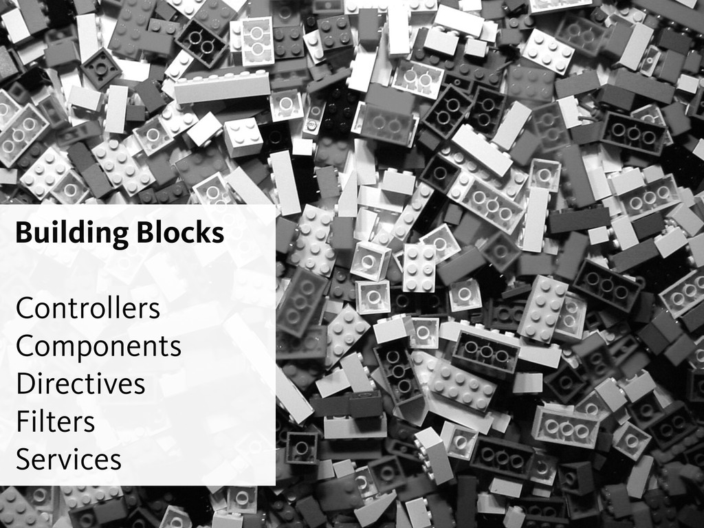 Building Blocks ! Controllers Components Direct...