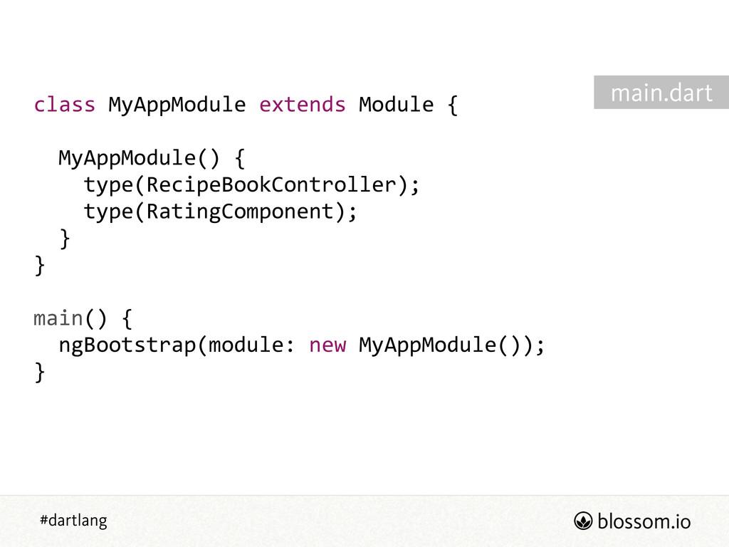 #dartlang class MyAppModule extends Module ...