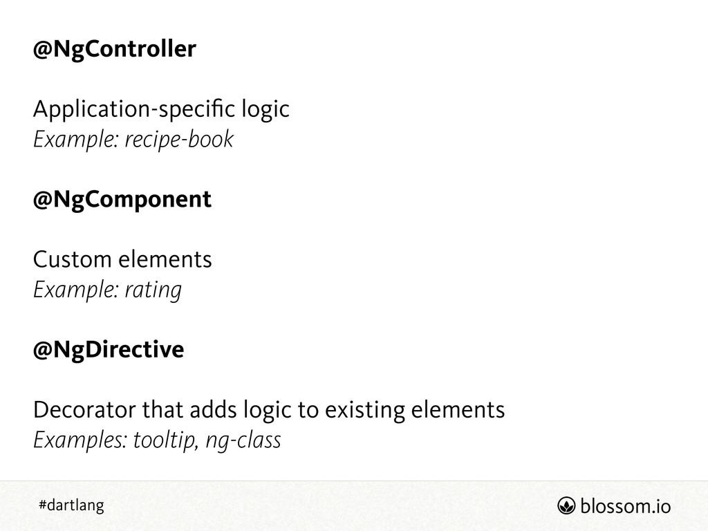 #dartlang @NgController ! Application-specific l...