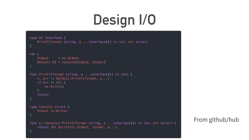 Design I/O From github/hub
