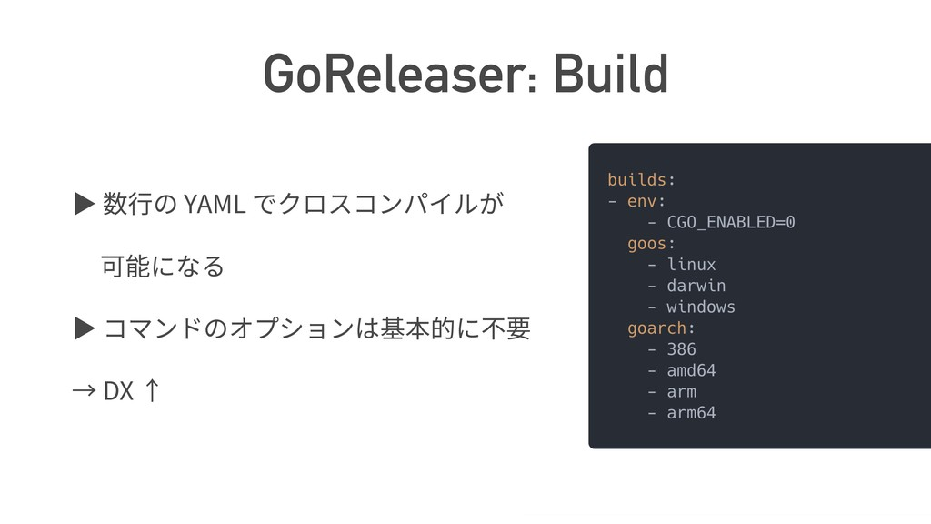 GoReleaser: Build ば YAML ば DX