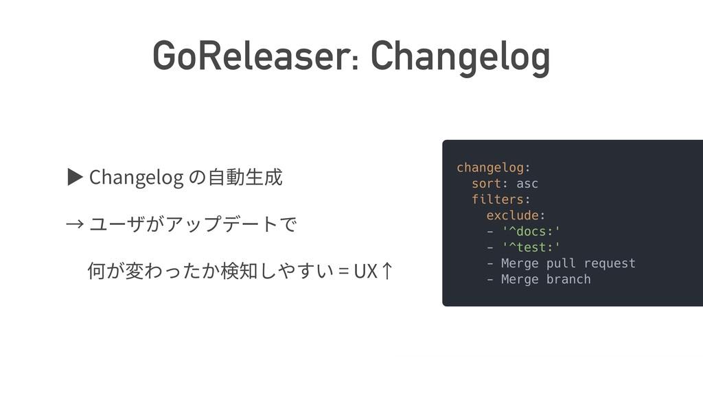 GoReleaser: Changelog ば Changelog = UX