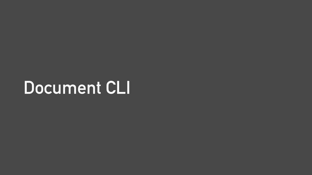 Document CLI