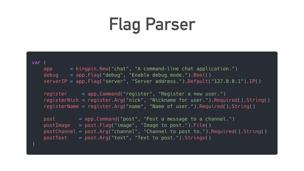 Flag Parser