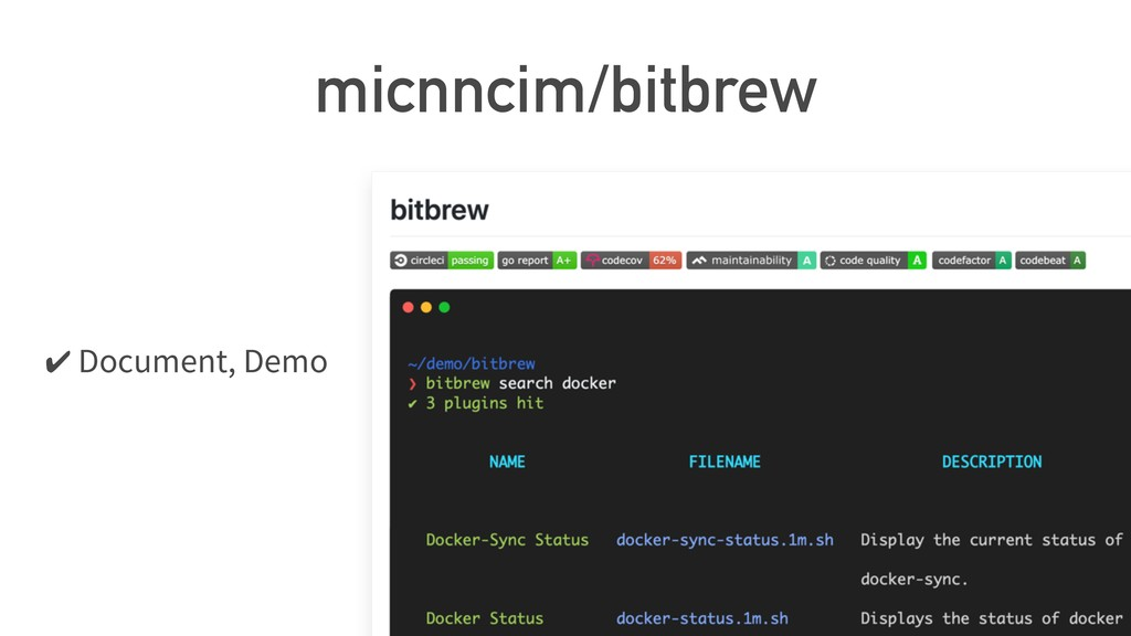 micnncim/bitbrew ✔ Document, Demo