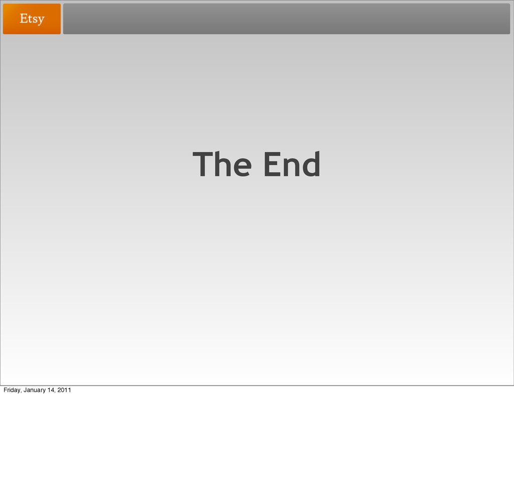 The End Friday, January 14, 2011