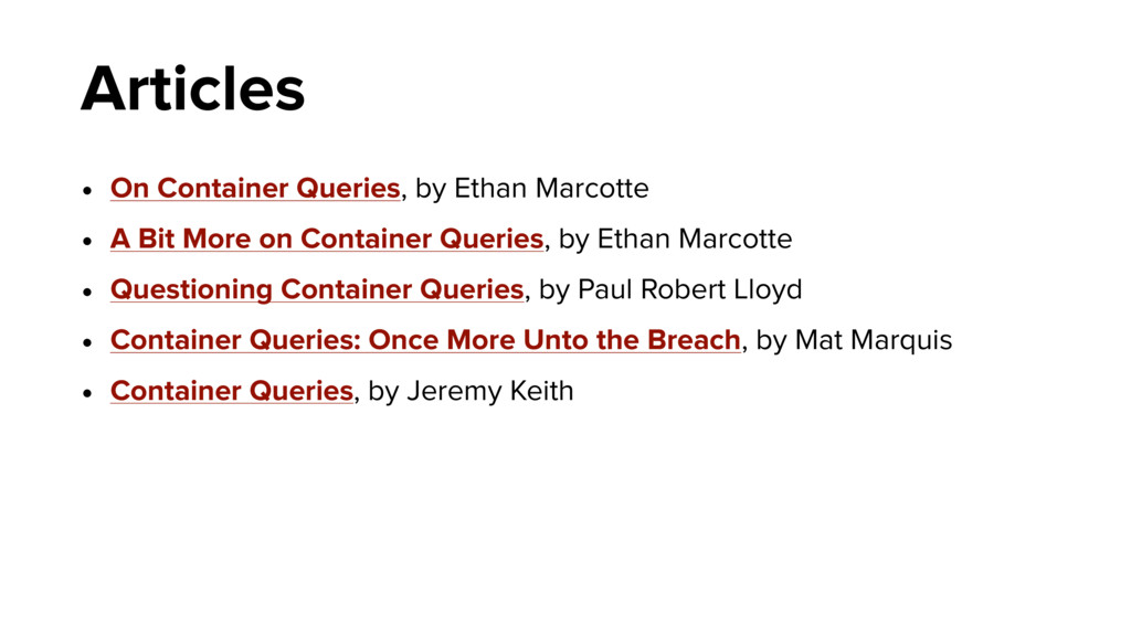 Articles • On Container Queries, by Ethan Marco...
