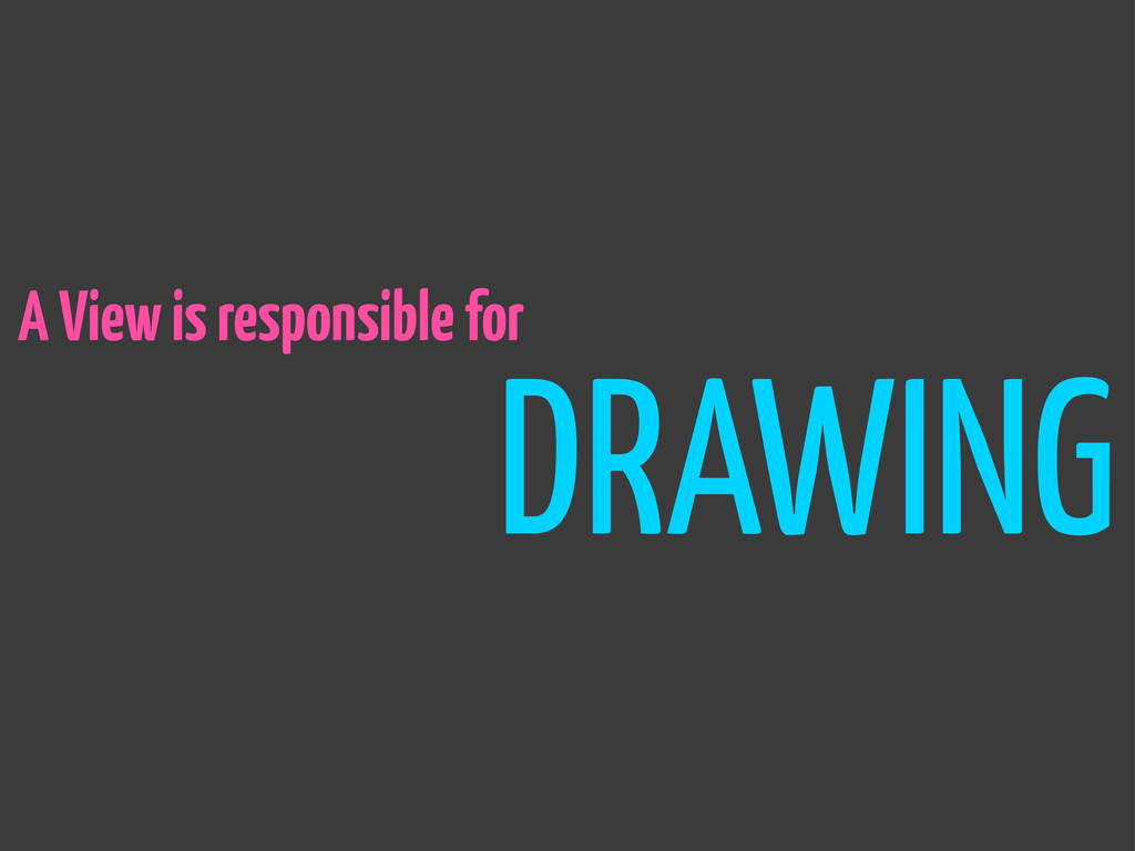 DRAWING A View is responsible for