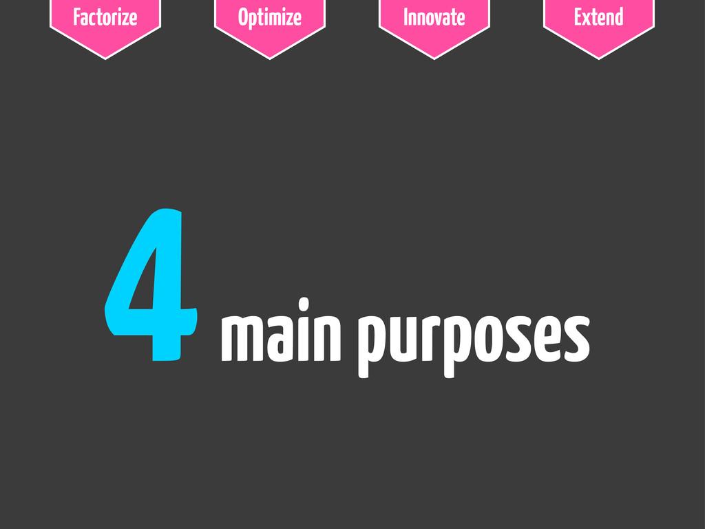 Factorize Optimize Innovate Extend 4main purpos...