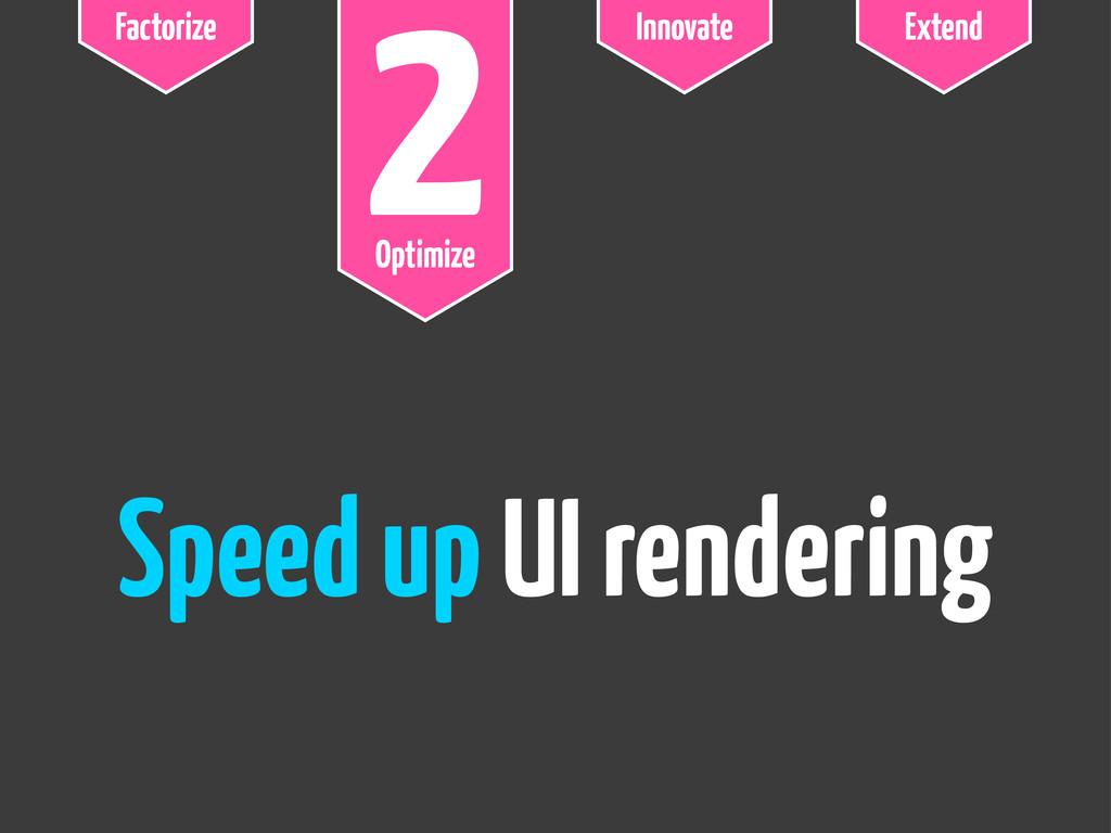 Factorize 2 Optimize Innovate Extend Speed up U...