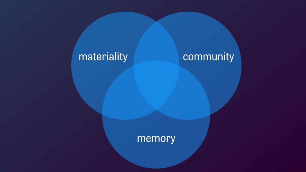 materiality community memory