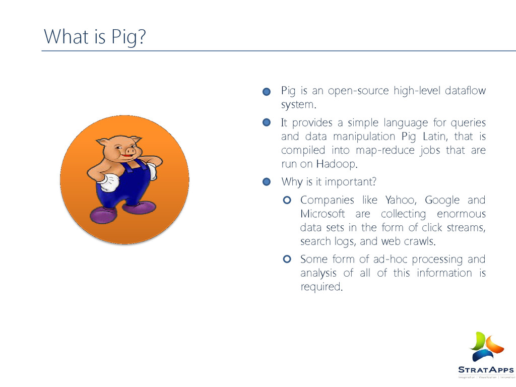Pig is an open-source high-level dataflow syste...