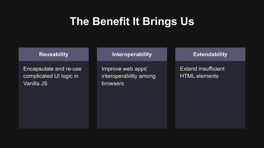 The Benefit It Brings Us Reusability Encapsulat...