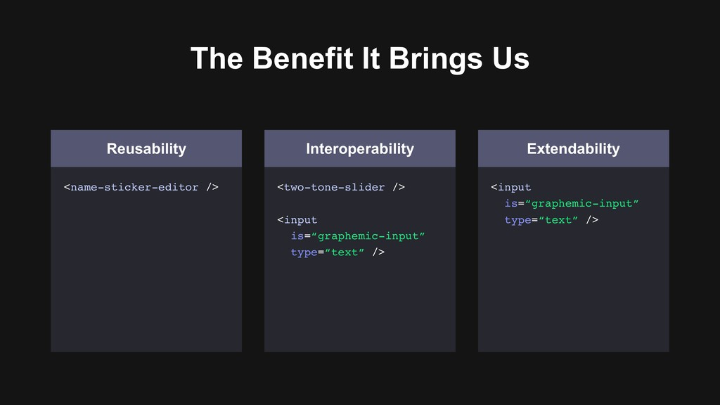 The Benefit It Brings Us Reusability <name-stic...