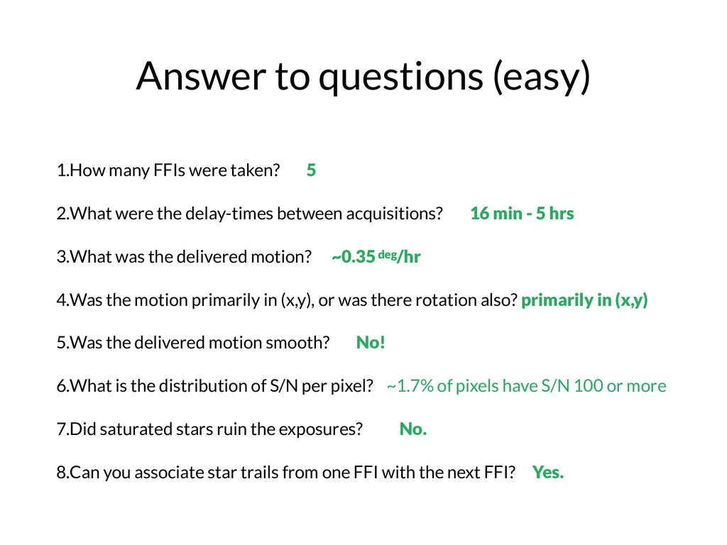 Answer to questions (easy) 1.How many FFIs were...