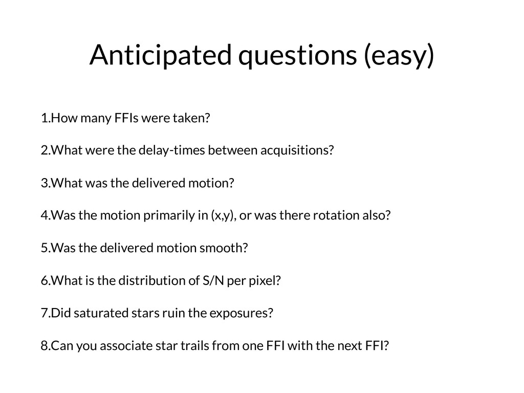 Anticipated questions (easy) 1.How many FFIs we...
