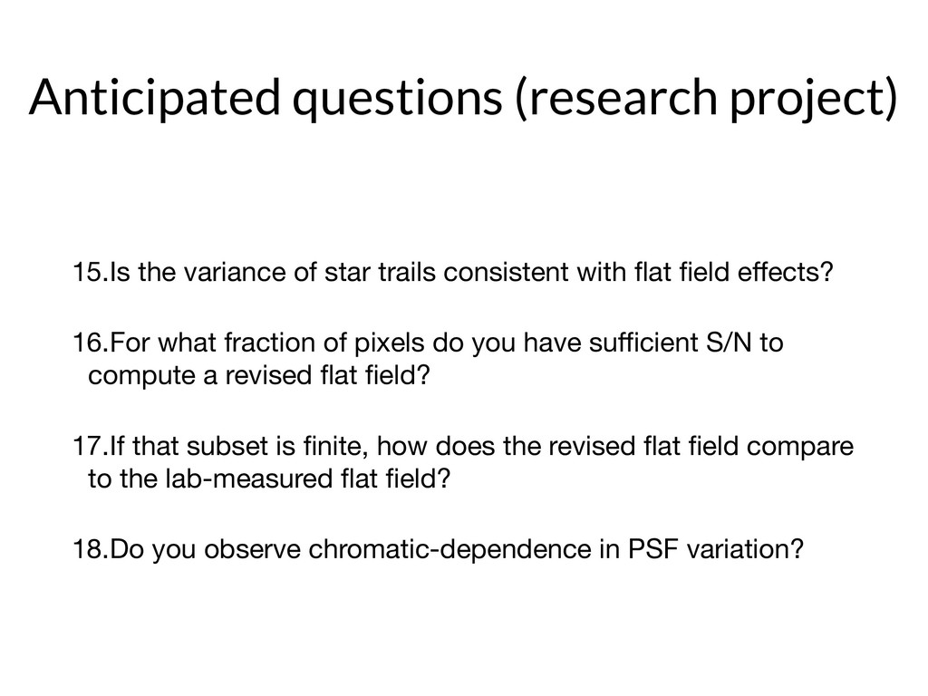 Anticipated questions (research project) 15.Is ...