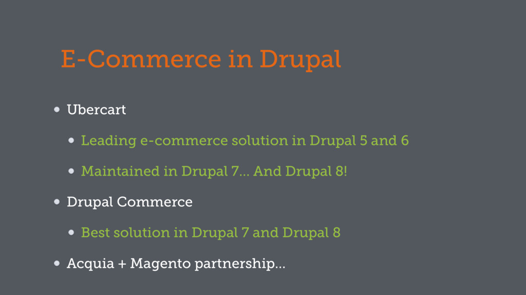 E-Commerce in Drupal Ubercart Leading e-commerc...