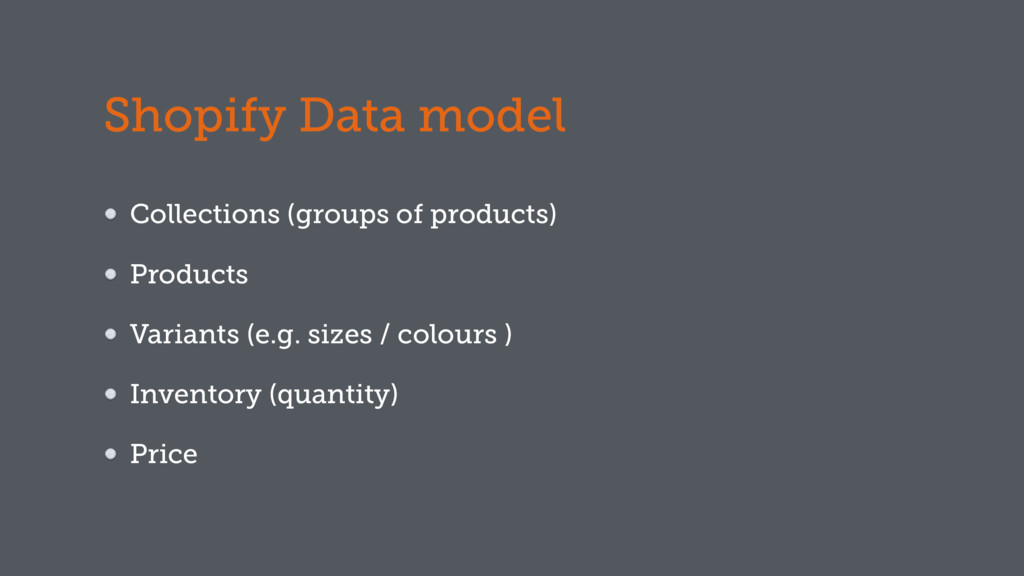 Shopify Data model Collections (groups of produ...